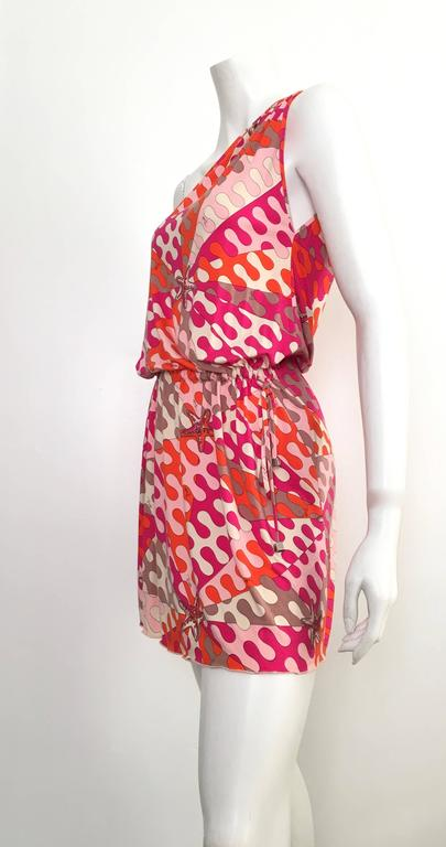 Emilio Pucci Starfish Off The Shoulder Dress Size 6.  For Sale 4