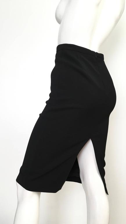 Gucci Black Pencil Skirt Size 4 / 38. 5