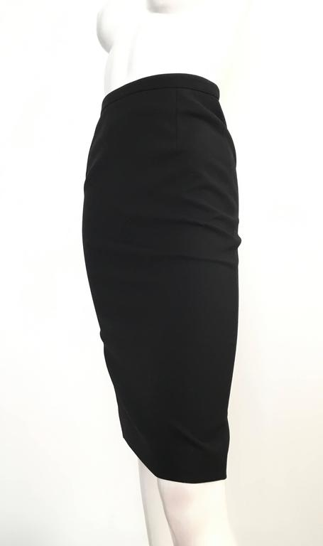 Gucci Black Pencil Skirt Size 4 / 38. For Sale 2