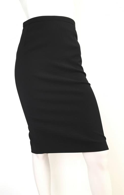 Gucci Black Pencil Skirt Size 4 / 38. For Sale 4