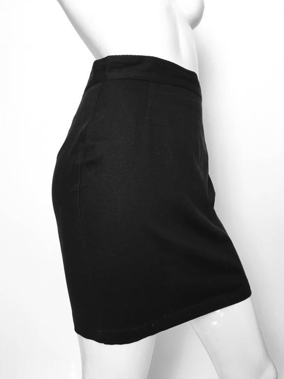 Thierry Mugler 1990s Black Cotton Mini Skirt Size 4. 2