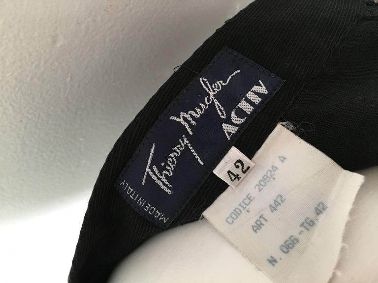 Thierry Mugler 1990s Black Cotton Mini Skirt Size 4. 7
