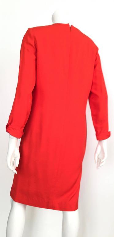 Carolina Herrera 1980s Silk Dress Size 10. For Sale 1