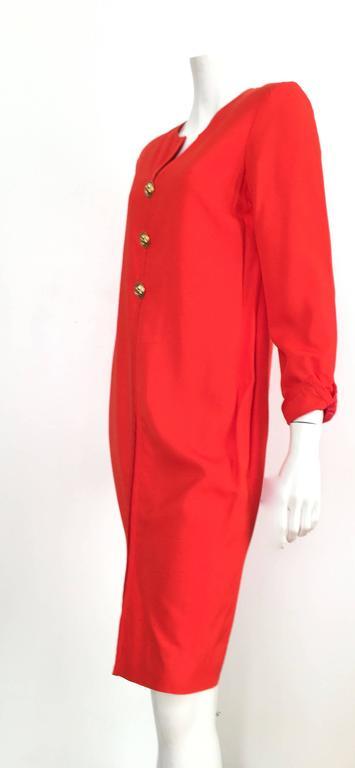 Carolina Herrera 1980s Silk Dress Size 10. For Sale 2