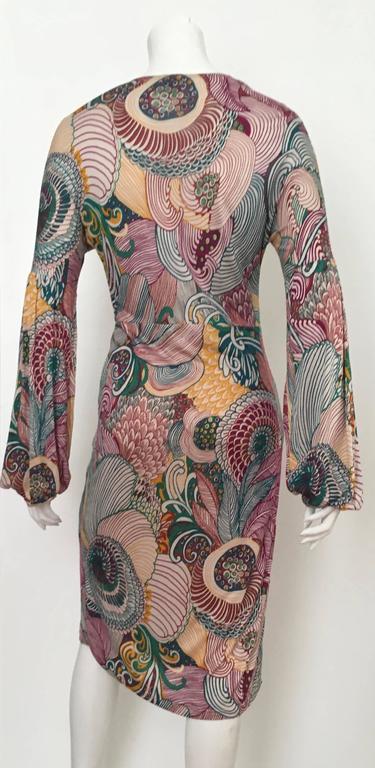 Women's or Men's Missoni Silk Jersey Long Sleeve Dress Size 6.  For Sale