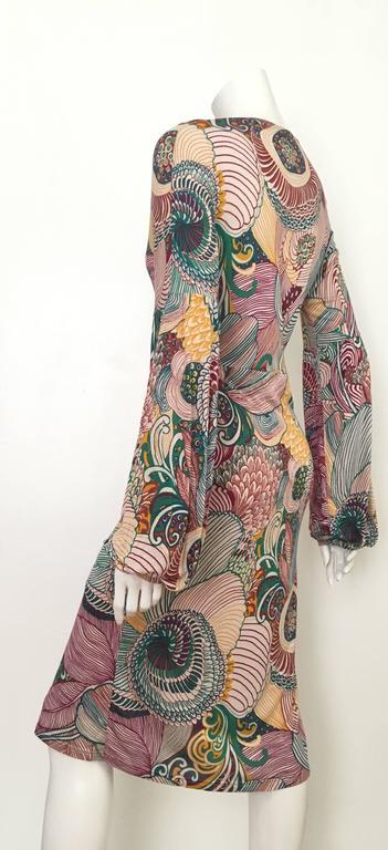 Missoni Silk Jersey Long Sleeve Dress Size 6.  For Sale 1