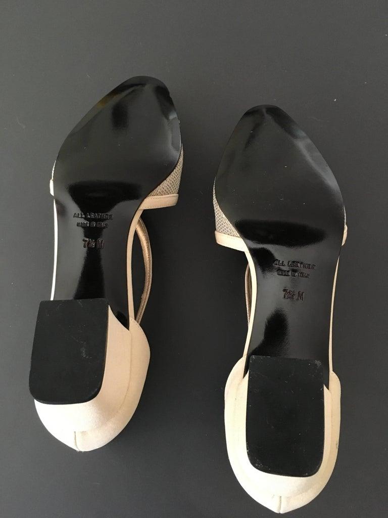 Ysl 1980s Metallic Mesh Low Heel Shoe Size 7 5m Never Worn