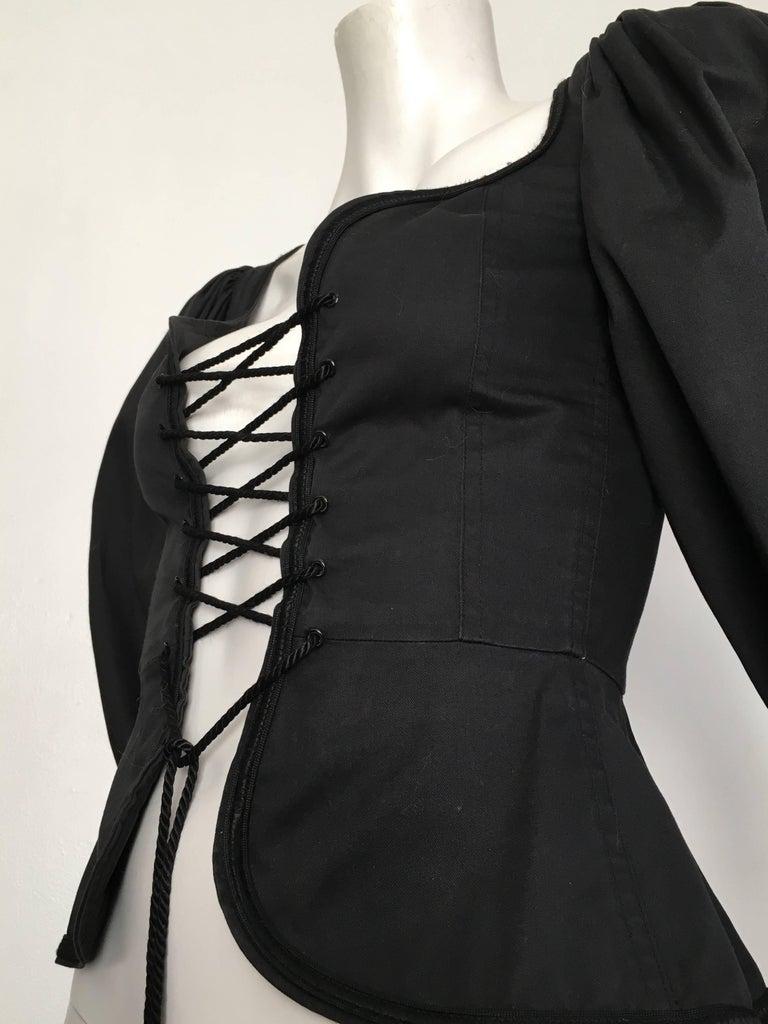 Saint Laurent Rive Gauche Russian Collection Corset Lace Top Size 0 / 2, 1976  For Sale 3
