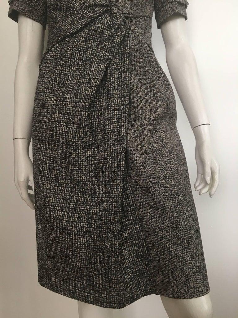Paule Ka Cotton Black & Grey Casual Dress Size 10 / 12. For Sale 2