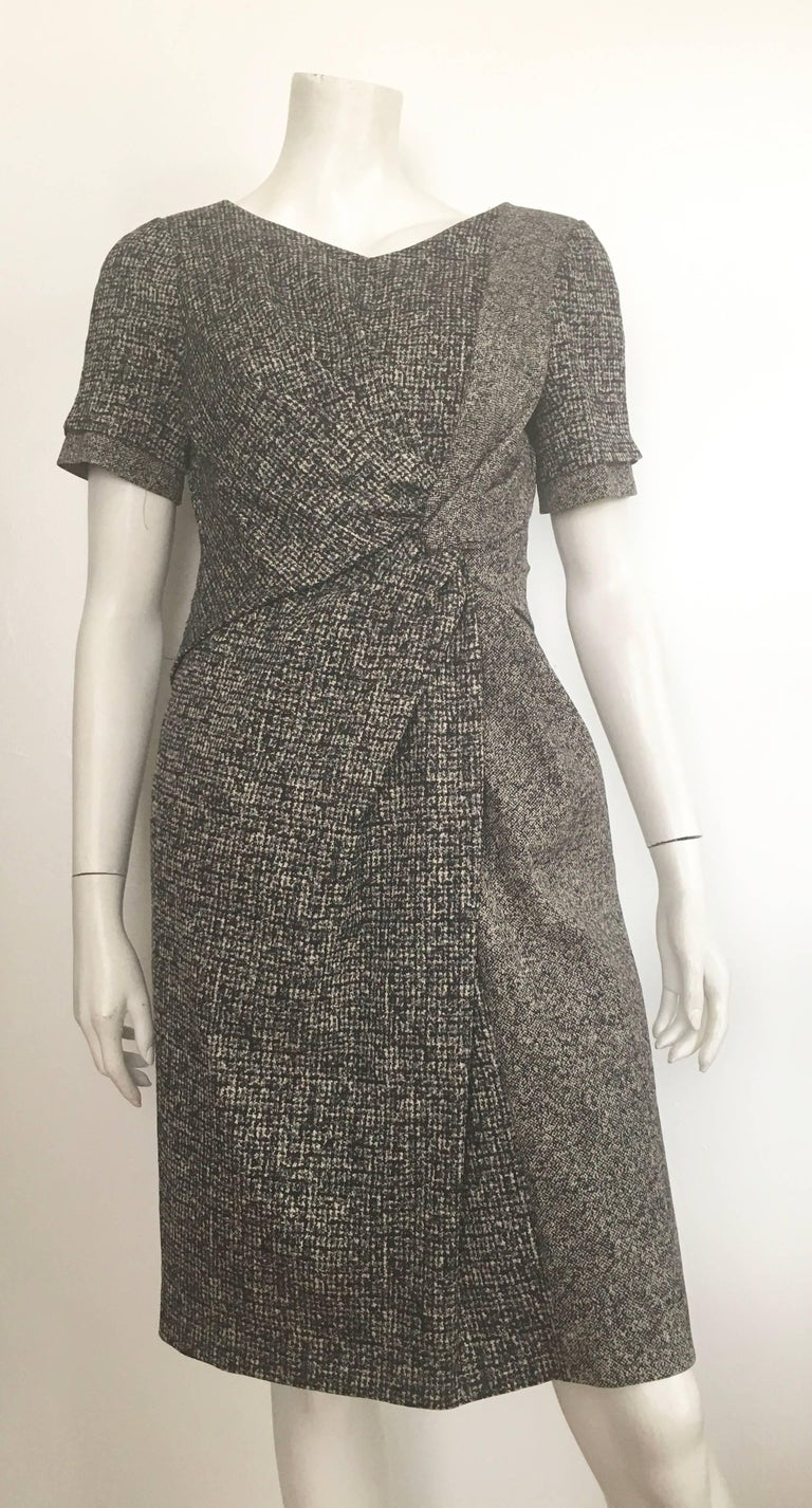 Paule Ka Cotton Black & Grey Casual Dress Size 10 / 12. In Excellent Condition For Sale In Atlanta, GA