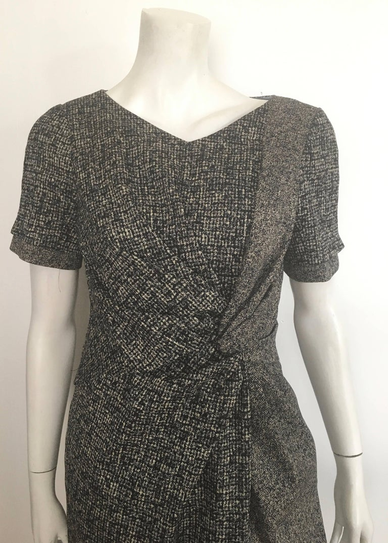 Paule Ka Cotton Black & Grey Casual Dress Size 10 / 12. For Sale 1