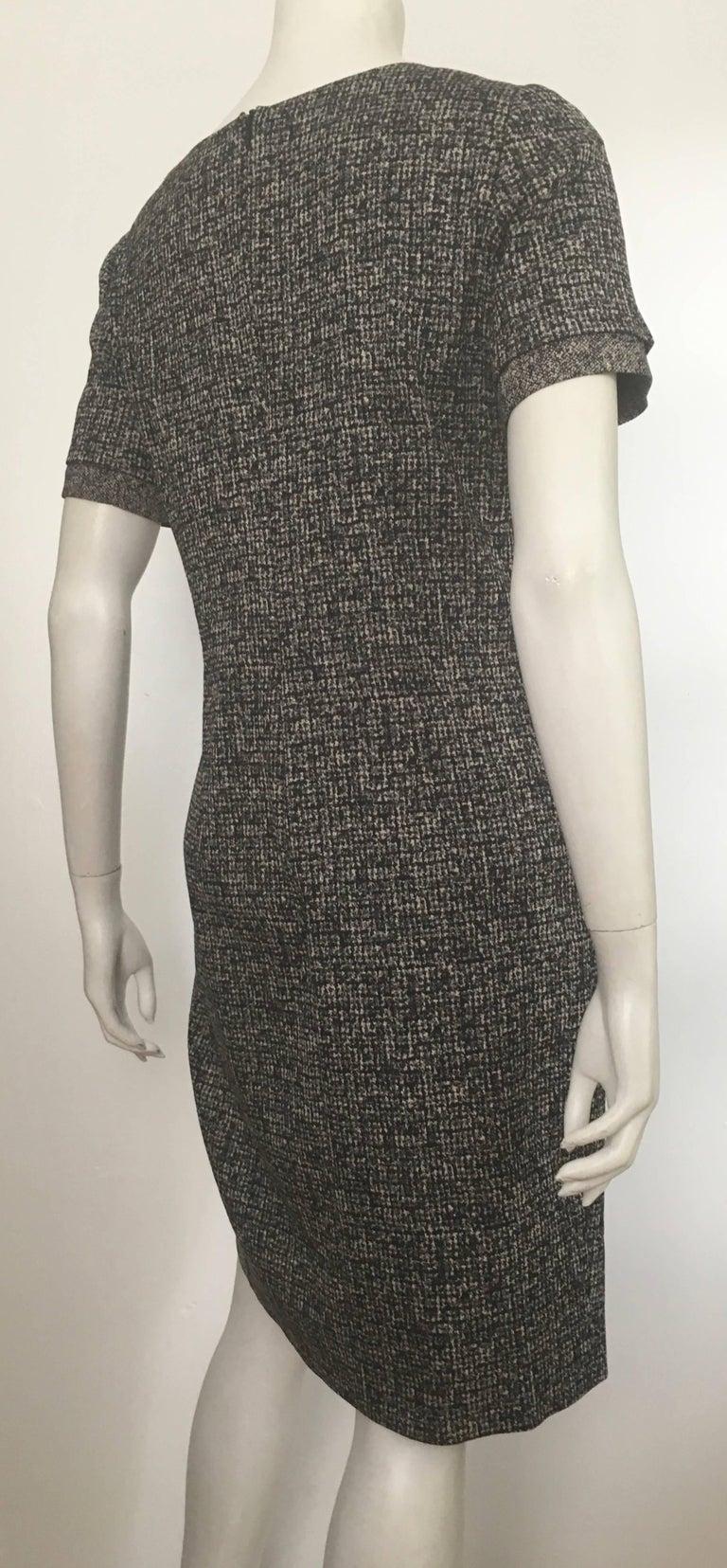 Paule Ka Cotton Black & Grey Casual Dress Size 10 / 12. For Sale 4