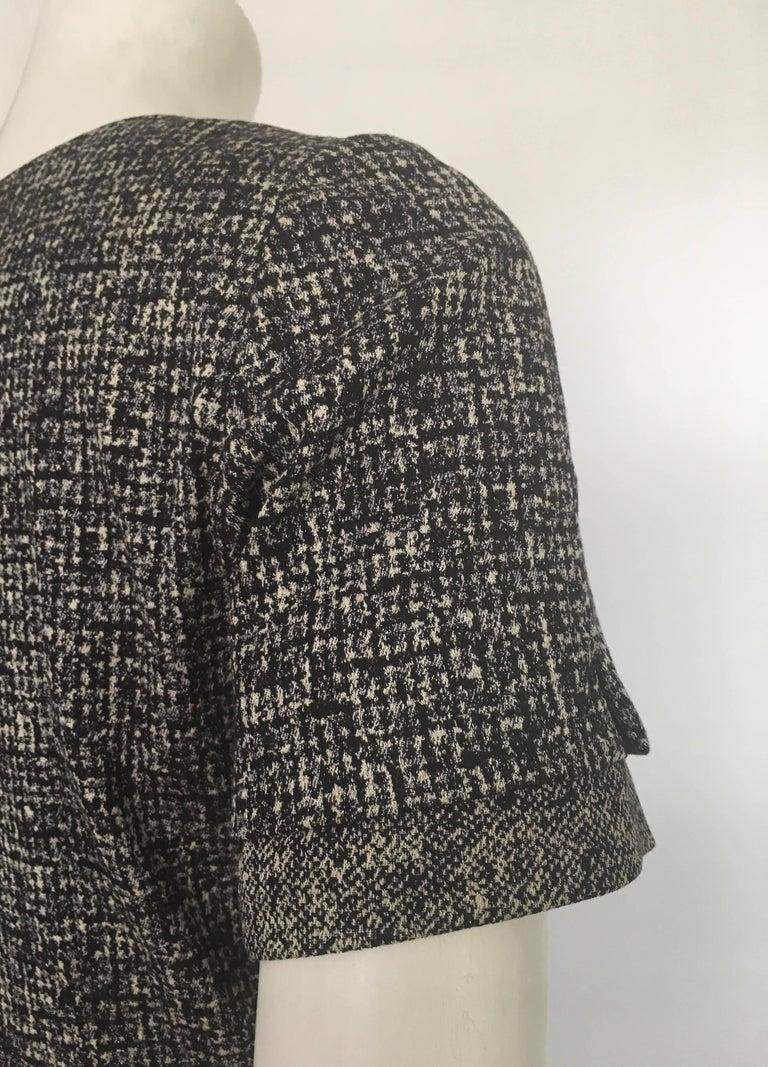 Paule Ka Cotton Black & Grey Casual Dress Size 10 / 12. For Sale 5