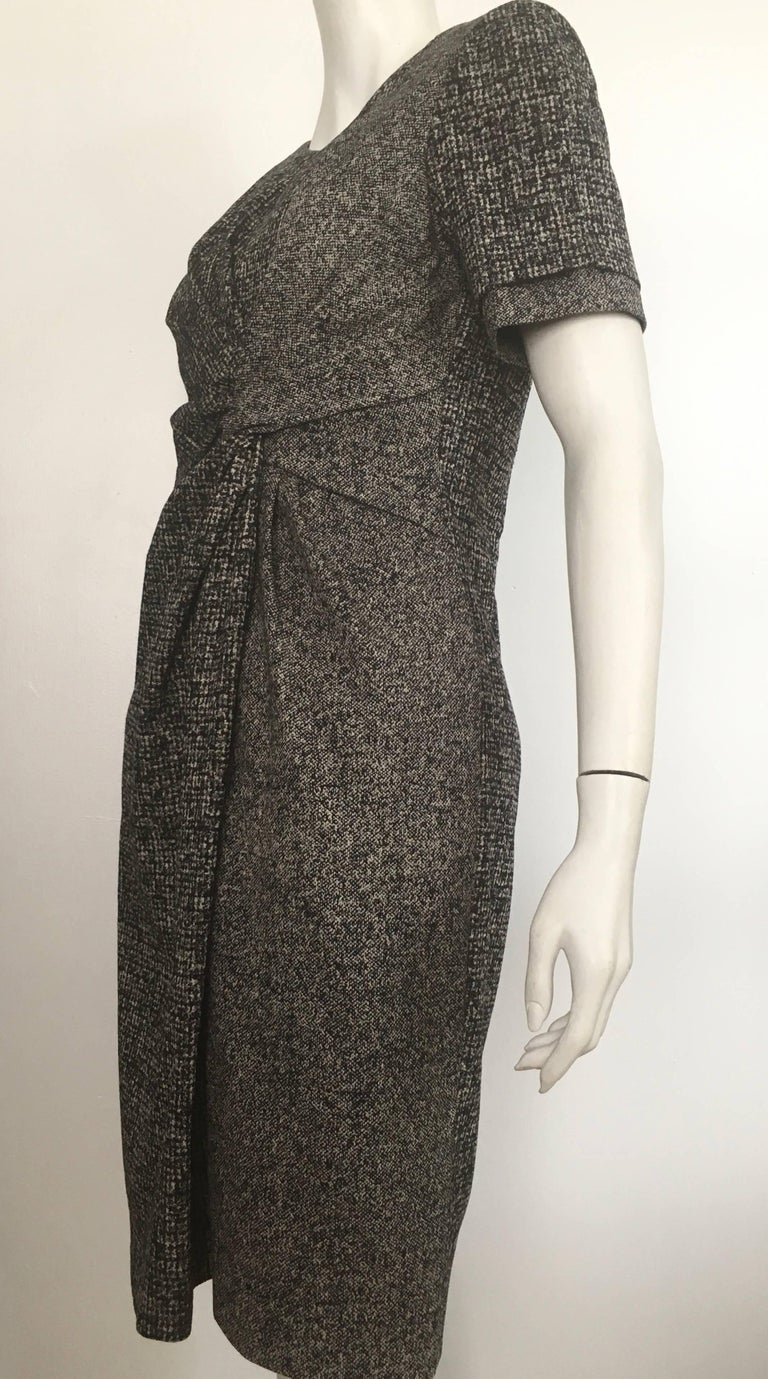 Paule Ka Cotton Black & Grey Casual Dress Size 10 / 12. For Sale 9