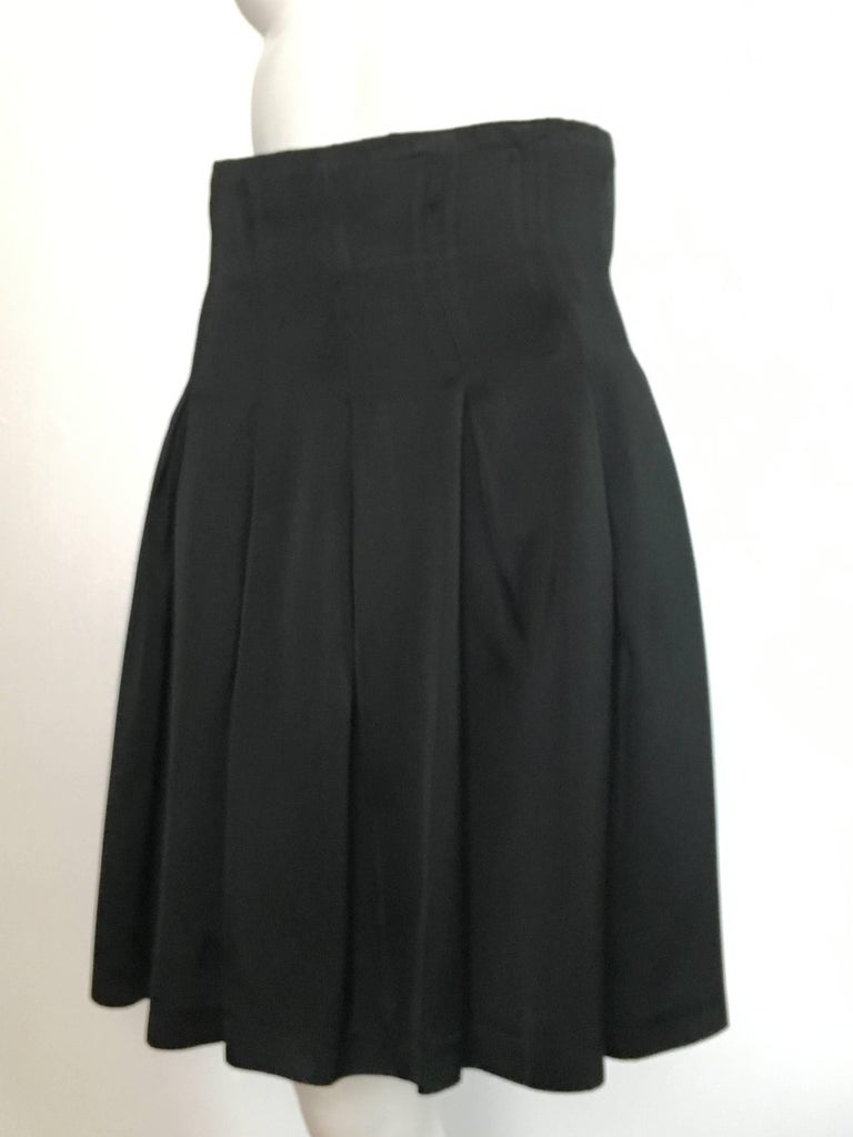 Patrick Kelly Paris 1980s Black Pleated Skirt Size 6. For Sale 6