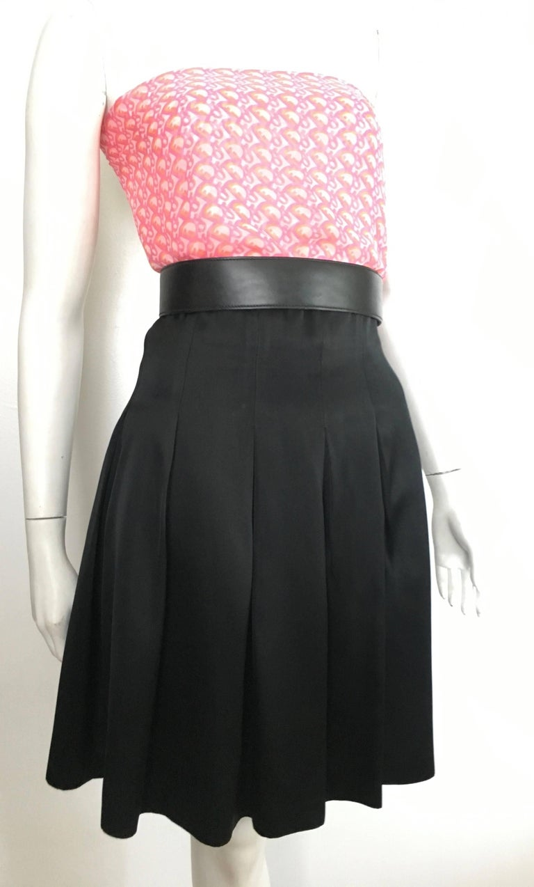 Patrick Kelly Paris 1980s Black Pleated Skirt Size 6. For Sale 9