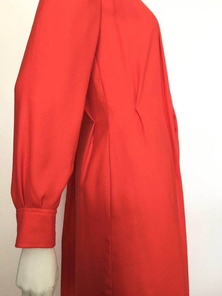 Women's or Men's Courreges Red Wool Long Sleeve Dress with Pockets, 1980s  For Sale
