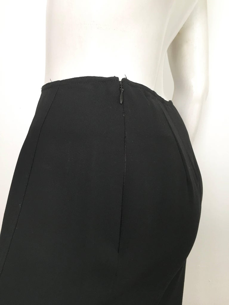 Donna Karan 1990s Black Wool Long Skirt Made in Italy Size 6. For Sale 7