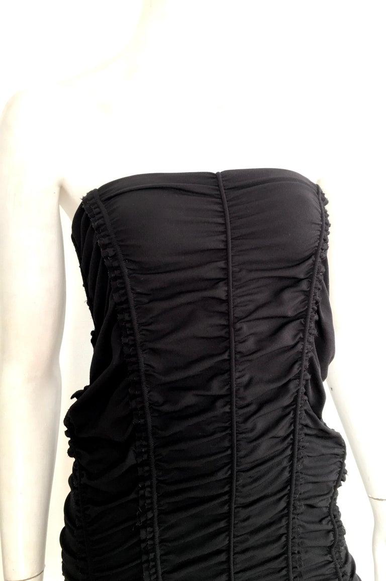 Donna Karan Black Parachute Dress Size 6. In Excellent Condition For Sale In Atlanta, GA
