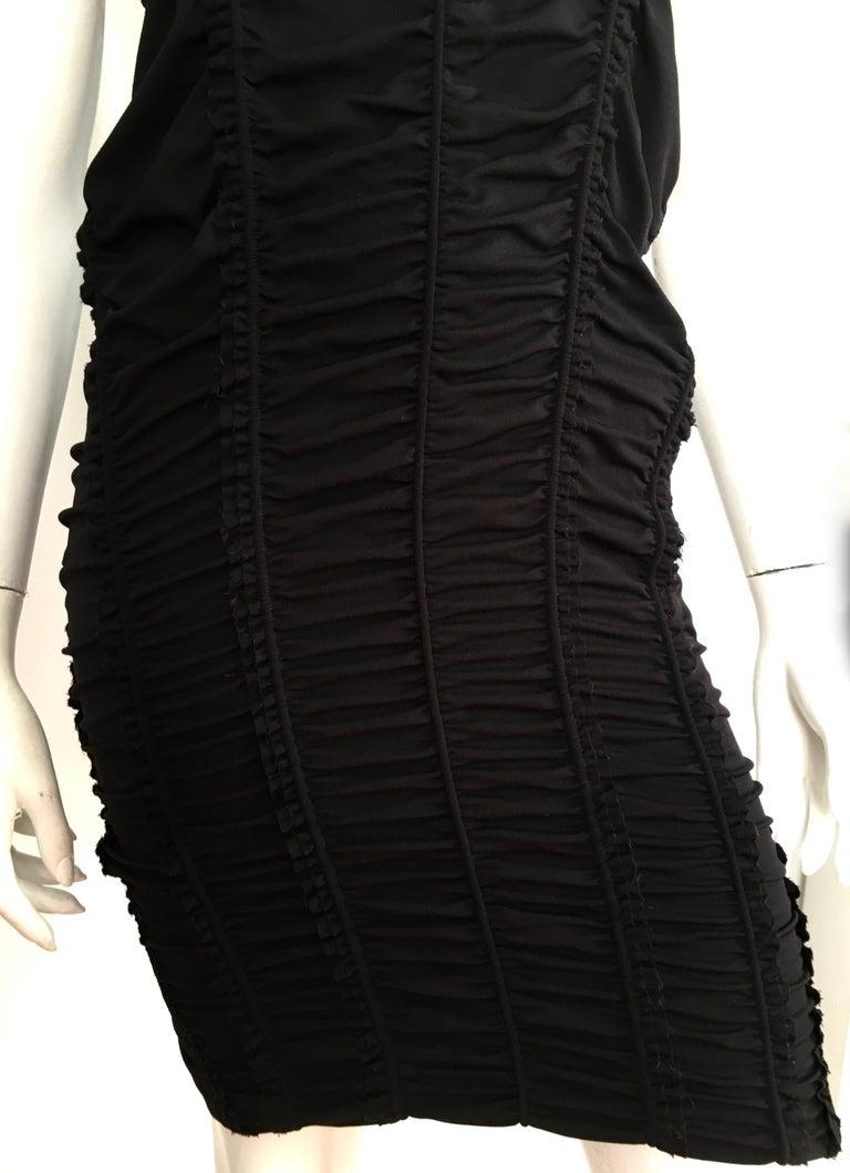 Women's or Men's Donna Karan Black Parachute Dress Size 6. For Sale