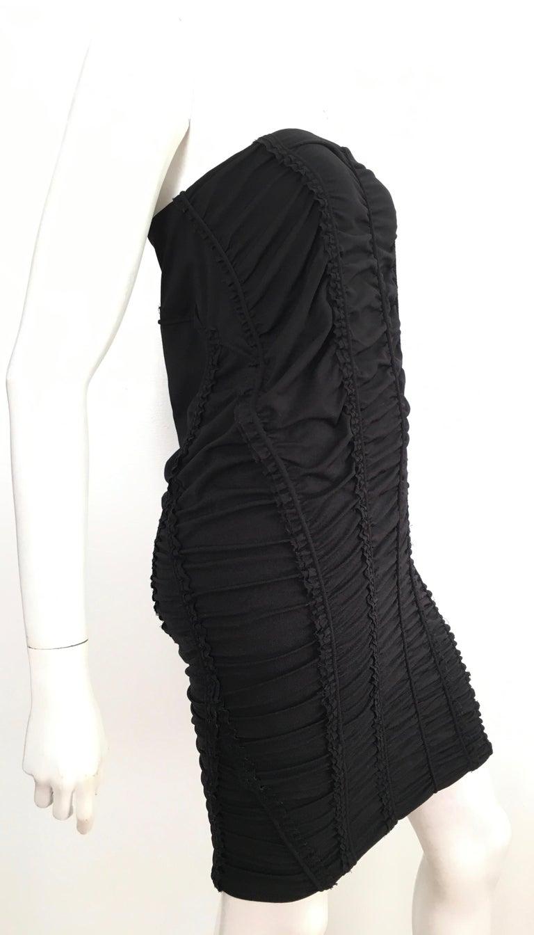 Donna Karan Black Parachute Dress Size 6. For Sale 1