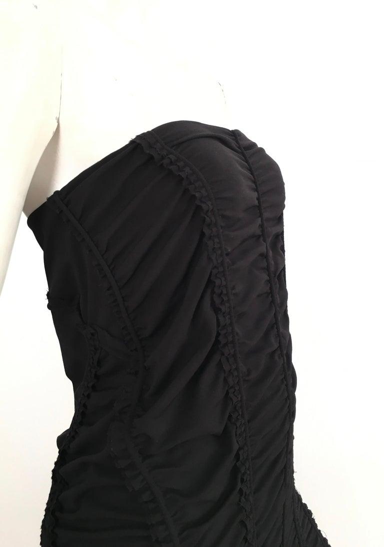 Donna Karan Black Parachute Dress Size 6. For Sale 2