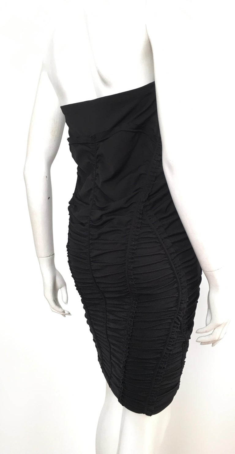 Donna Karan Black Parachute Dress Size 6. For Sale 3