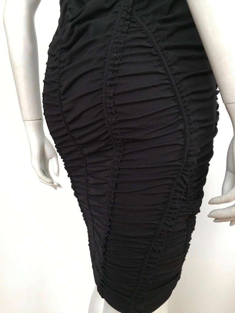 Donna Karan Black Parachute Dress Size 6. For Sale 4