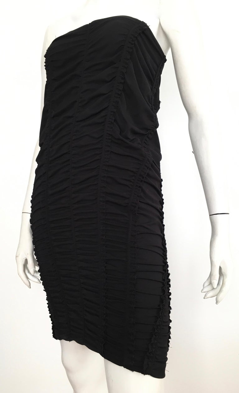 Donna Karan Black Parachute Dress Size 6. For Sale 6