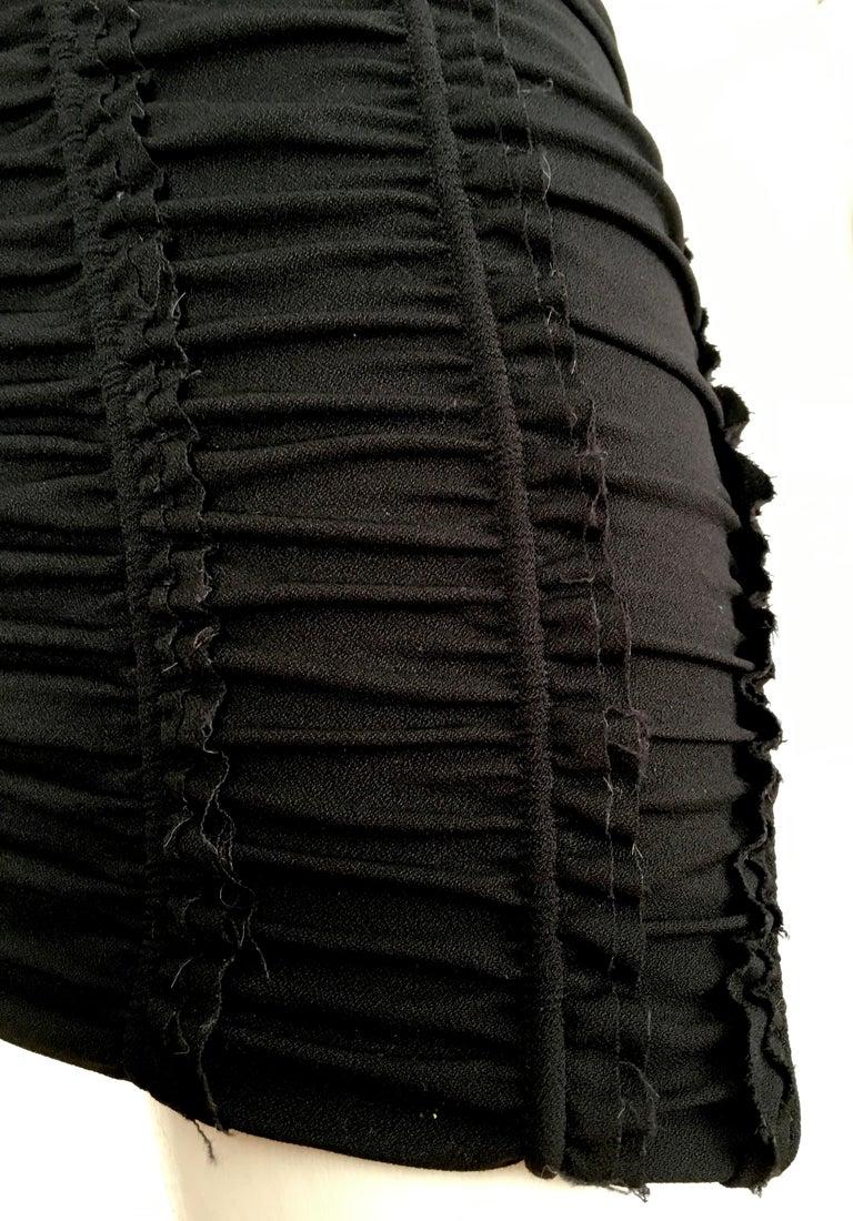 Donna Karan Black Parachute Dress Size 6. For Sale 7