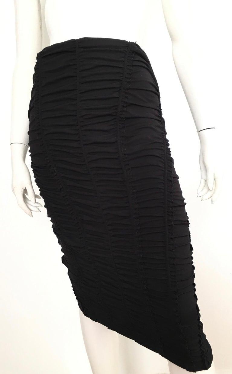 Donna Karan Black Parachute Dress Size 6. For Sale 9