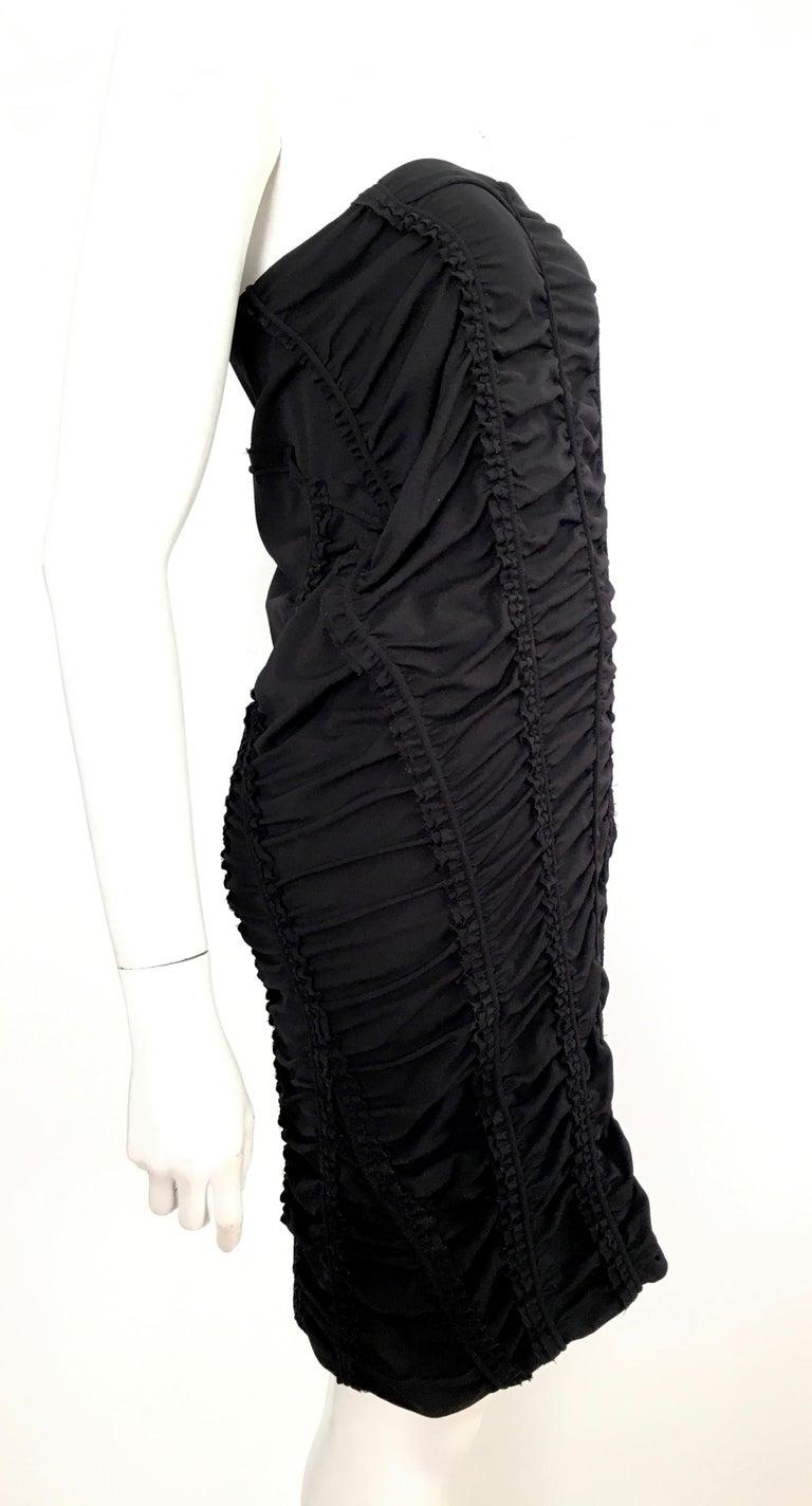Donna Karan Black Parachute Dress Size 6. For Sale 8