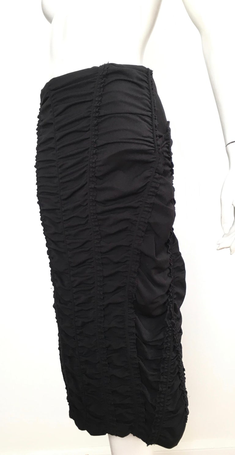 Donna Karan Black Parachute Dress Size 6. For Sale 10