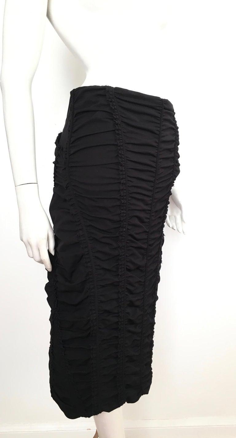 Donna Karan Black Parachute Dress Size 6. For Sale 11