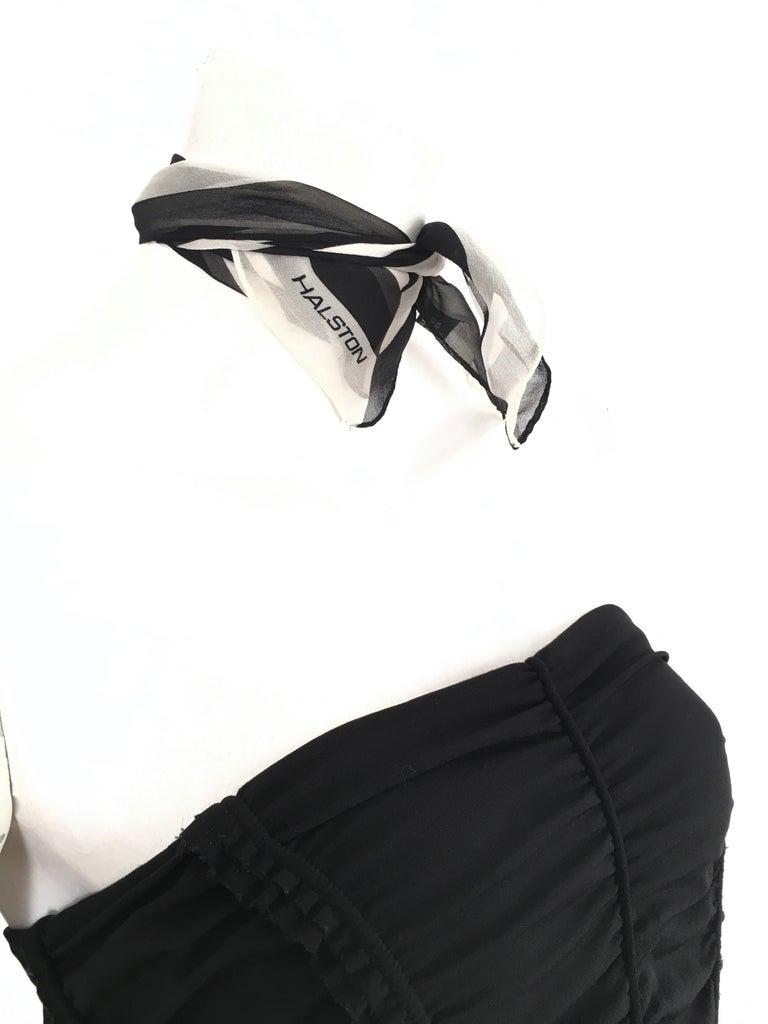 Donna Karan Black Parachute Dress Size 6. For Sale 12