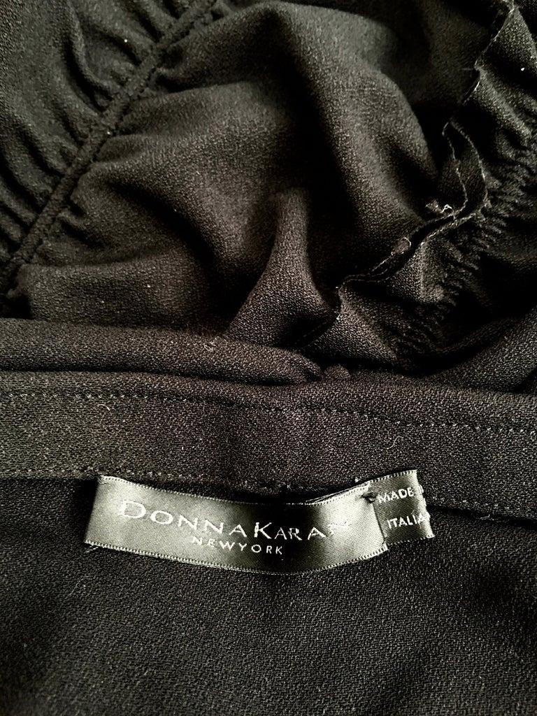 Donna Karan Black Parachute Dress Size 6. For Sale 13