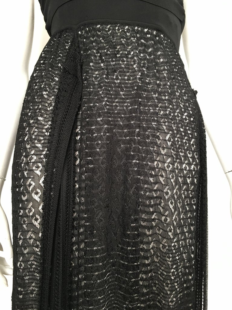 Missoni Lace Black and White Spaghetti Strap Maxi Dress For Sale 1