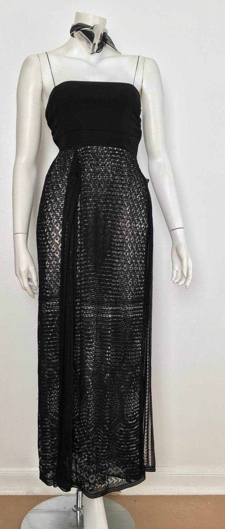 M by Missoni lace black & white spaghetti strap maxi dress is an Italian size 42 and fits like an USA size 4. This fits Matilda the Mannequin perfectly and she wears a size 4, so if you have the identical body type as Matilda then this was meant for