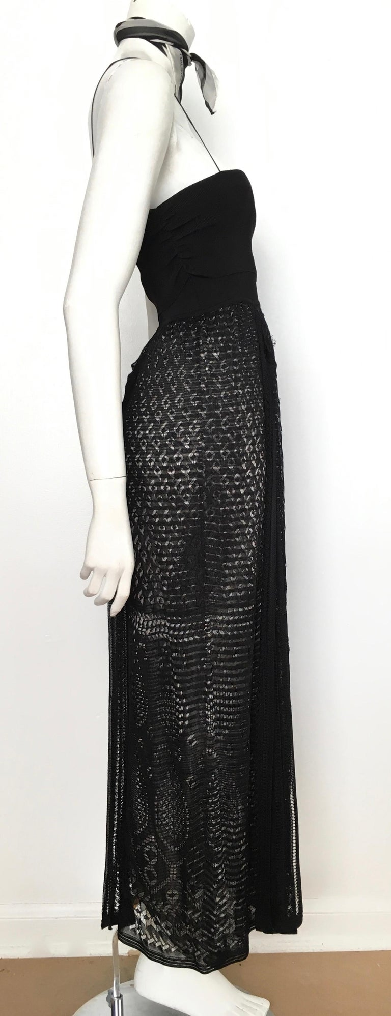 Missoni Lace Black and White Spaghetti Strap Maxi Dress For Sale 5