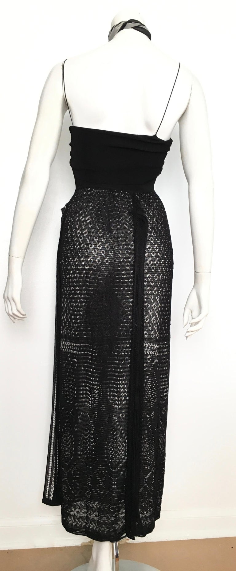 Missoni Lace Black and White Spaghetti Strap Maxi Dress For Sale 7