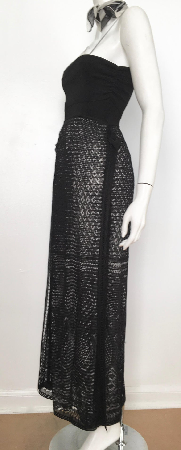 Missoni Lace Black and White Spaghetti Strap Maxi Dress For Sale 9