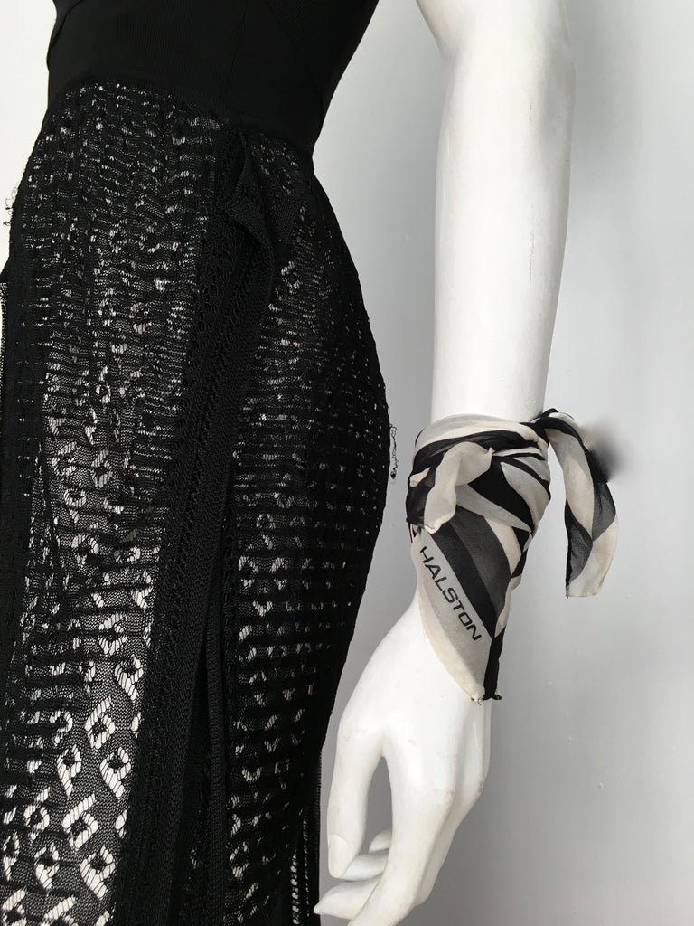 Missoni Lace Black and White Spaghetti Strap Maxi Dress For Sale 13