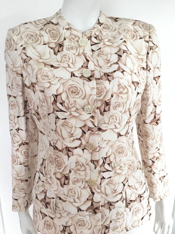 Valentino 90s Silk Jacket Size 4. 2