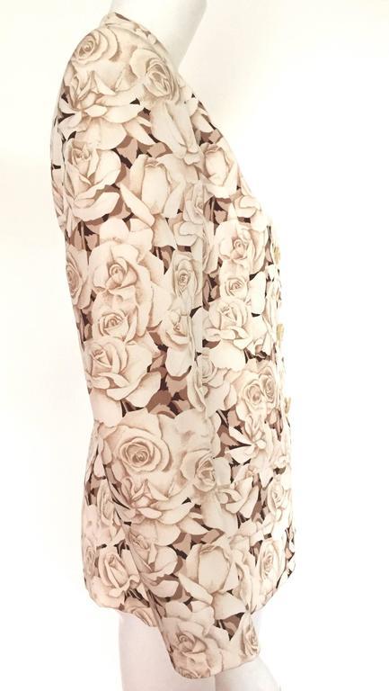 Valentino 90s Silk Jacket Size 4. 5