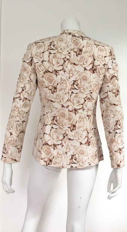 Valentino 90s Silk Jacket Size 4. 6
