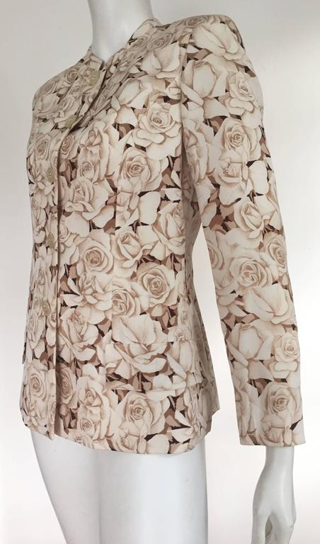 Valentino 90s Silk Jacket Size 4. 7