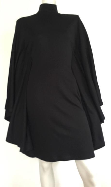 Patrick Kelly Paris 80s Black Dress Size Small. For Sale 5