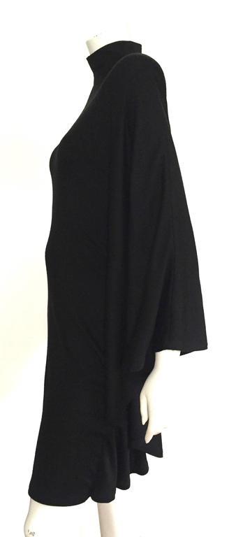 Patrick Kelly Paris 80s Black Dress Size Small. In Good Condition For Sale In Atlanta, GA