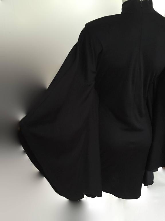 Patrick Kelly Paris 80s Black Dress Size Small. For Sale 1