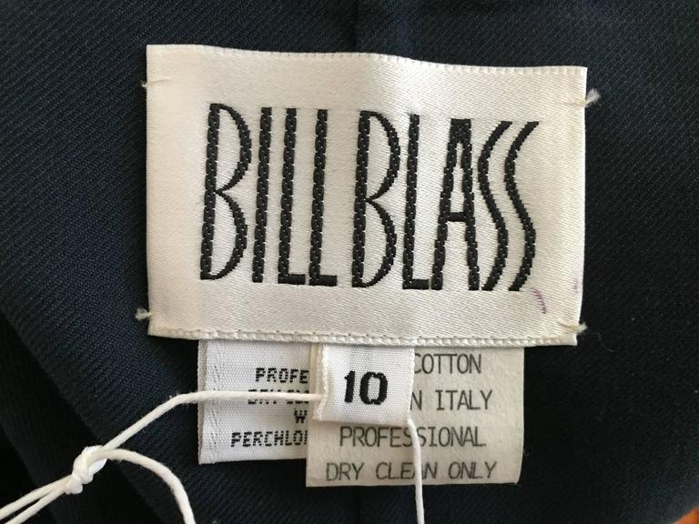 Bill Blass Navy Cotton Top Size 10. For Sale 2
